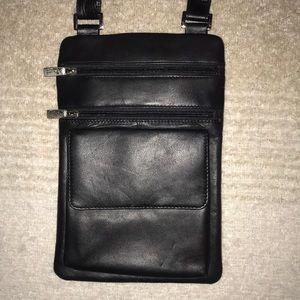 Leather Biacci Crossbody Purse